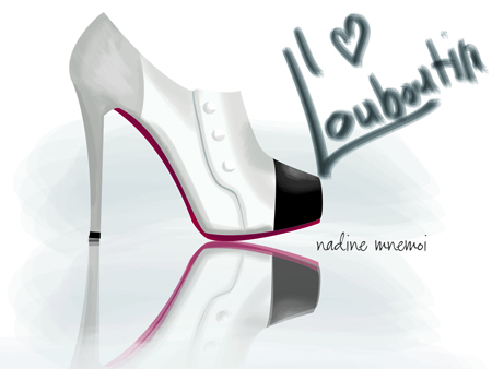 illustrations of Louboutin shoes