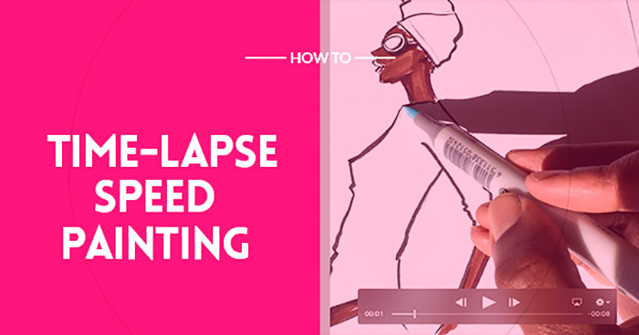 How to create a speed painting (time lapse video art) with your phone?